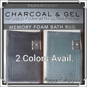 Paramount Charcoal & Gel Memory Foam Bath Rug Mat